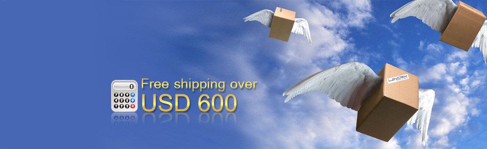 Free shipping over USD 600